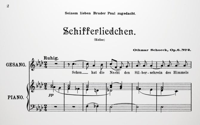 OTHMAR SCHOECK: SWISS MASTER OF THE ART OF SONG